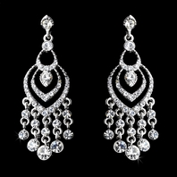 Cascada - Beautiful rhinestone drop chandelier earrings - SALE