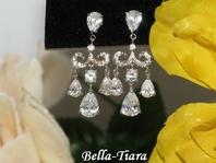 Cassidy-Elegant Cubic Zirconia Chandelier Earrings - SPECIAL