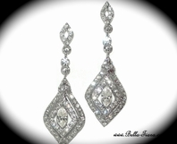Castle - STUNNING Swarovski crystal vintage earrings - SPECIAL