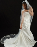 CHASTITY - AMAZING couture designer cathedral wedding veil - SALE