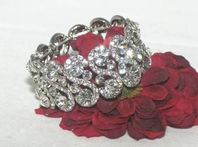Chloe - Beautiful rhinestone stretch  Wedding Bracelet - Back in stock