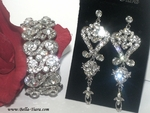 Chloe - Beautiful vintage drop wedding earrings and bracelet - SPECIAL