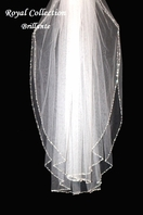 Royal Collection - Brillante - Swarovski crystal edge wedding veil - SALE