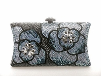 Claire - New gorgeous design Swarovski crystal clutch purse - SALE