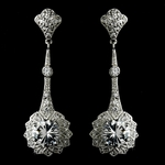 Clara-Beautiful Pave Encrusted Vintage Cubic Zirconia Earrings