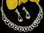 Clarabel - Elegant Austrian Crystal Rhinestone Necklace set - SALE!!
