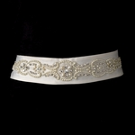 Classic beautiful pearl and rhinestone bridal belt sash - SALE