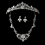 Classic Beauty Rhinestone tiara and bridal necklace set