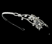 Clea - Couture sparkling side ornament bridal headband - SALE!!