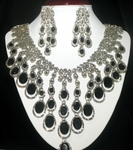 Cleopatra - Mesmerizing! Statement Swarovski crystal drop evening necklace set -  SALE -- SOLD