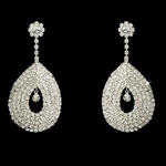 Cleopatra - DAZZLING teardrop loop rhinestone earrings