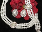 Cleopatra - Elegant Classic 3 Pcs Bridal Pearl Jewelry Set - SALE!!!