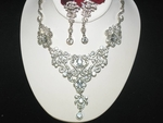 Cleopatra -- Victorian filigree stunning bridal necklace set - SPECIAL