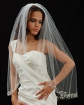 COLETTE - Couture partial embroidered beaded edge - Marionat veils 3007 - SALE