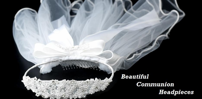 Communion Headpieces, veils,  Jewelry sets, Sashes