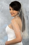 Couture Bridal Veil with Silver Vine Design - Ansonia 993 - SALE!!!