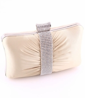 COUTURE champagne crystal evening clutch purse - SALE!!