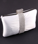 COUTURE crystal accent white bridal purse - SPECIAL !! Back in stock