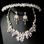 Couture Crystal and Pearl Headpiece with Matching Jewelry Set