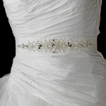 Couture crystal beaded wedding  sash  - SPECIAL