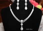 Couture CZ drop bridal necklace set - SALE