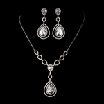 COUTURE CZ vintage wedding necklace set - Amazingly priced!!!