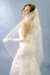 Couture elegance scattered crystal wedding veil - SALE