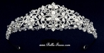 Couture high end Swarovski crystal freshwater pearl communion tiara - SPECIAL