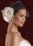 Couture large hair flower with cage veil - SALE!!!