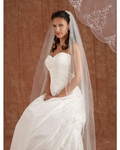 Couture stunning royal beaded edge cathedral veil - Edward Berger 4221