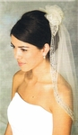 COUTURE STYLE beaded puff veil - Ansonia Veils 970
