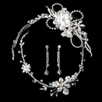Couture swarovski crystal bridal comb w/ matching necklace set - SALE!!