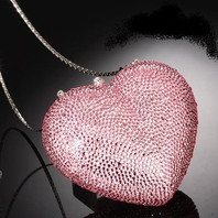 Couture Swarovski crystal heart purse- choose any color - SALE