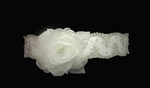 Couture vintage lace crystal wedding belt with or without flower - SALE