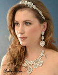 Crista - SPECTACULAR Swarovski crystal wedding necklace set - SALE