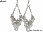 Cristallo - BREATHTAKING Swarovski chandelier earrings - SALE