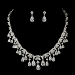 Cristana - STUNNING High end Royal CZ wedding bridal necklace set - SPECIAL one left