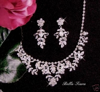 Cristina - Beautiful vine wedding necklace set - Special two left