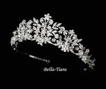 Cristina - Couture Crystal Filigree Bridal CrownTiara - SALE!!