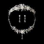 Crystal Tiara and Bridal necklace set - SALE!!