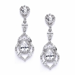 Cubic Zirconia Dangle Wedding Earrings - SPECIAL one left