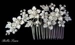 Dahlia-Vintage Flair Off white Wedding Bridal Hair Comb - SPECIAL SALE!!