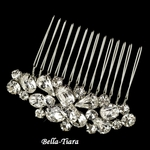 NEW!! Dainty Silver Clear Multi Cut Rhinestone Hair Comb