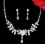 Danielle - Crystal drop Necklace set
