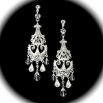Danielle- Royal Vintage Swarovski  Crystal  Bridal Earrings  - SPECIAL!!