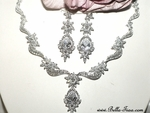 Darcey - Royal Collection - Gorgeous CZ wedding bridal necklace set - SALE