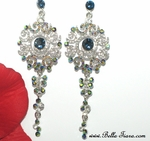 Darcia - Gorgeous sapphire swarovski crystal drop earrings - Special one set left
