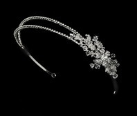 Darcie - Elegant double row vintage crystal Bridal headband - SALE!!