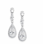 Darla - Gorgeous Cubic Zirconia Bridal Earrings - SPECIAL!! two left