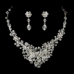 Davina - Dramatic beauty Swarovski crystal necklace set - SALE